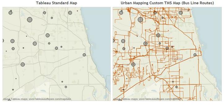 Standard and custom maps
