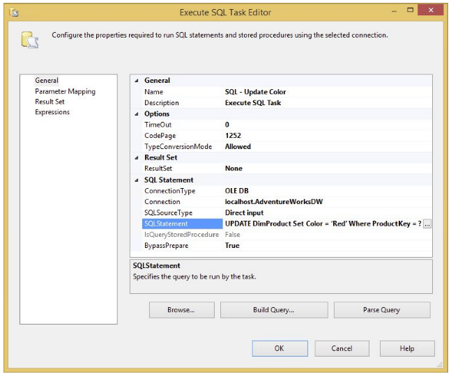 SQL Statement executing