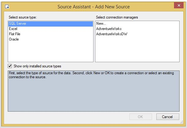 Select source type