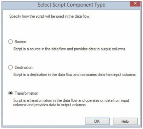 Adding a Script Component