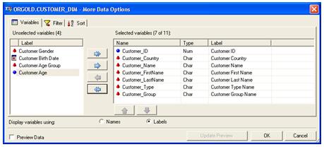 Restricting SAS Columns in Microsoft Excel