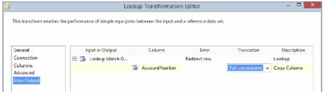 Redirect rows to no match output