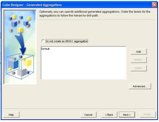 Cube Designer- Generated aggregation
