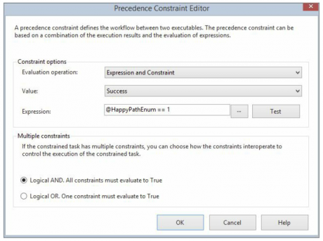 precedence constraint editor