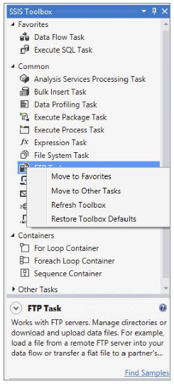 The SSIS Toolbox