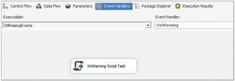 OnWarning Script Task