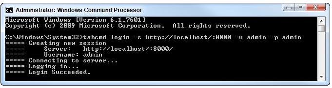 tabcmd login example