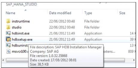Installing the SAP HANA Studio