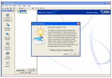 SAS ETL Studio desktop