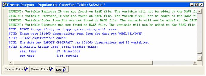 orderfact table