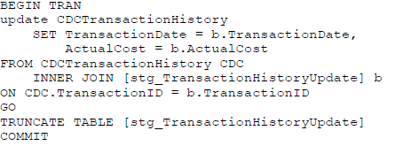 Execute SQL Task's statement