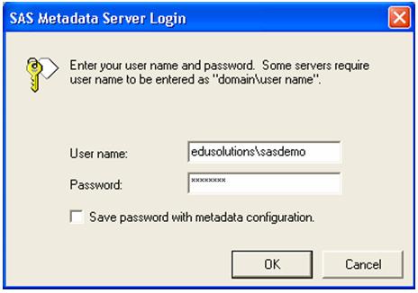 metadata server login window