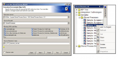 SAS Enterprise Guide and SAS Stored Processes