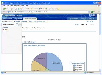 SAS Web Report Studio