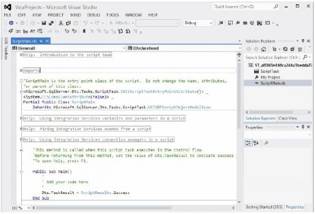 Script Task for the VB scripting