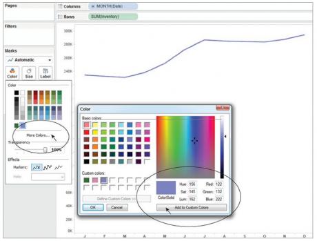 Customize an individual color