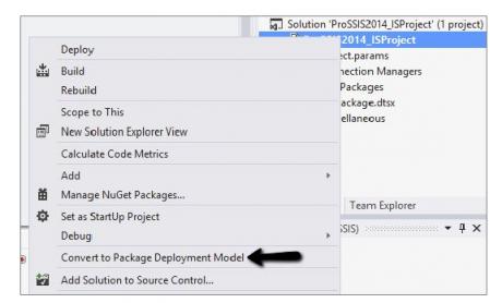 Package deployment model