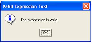 valid expression test