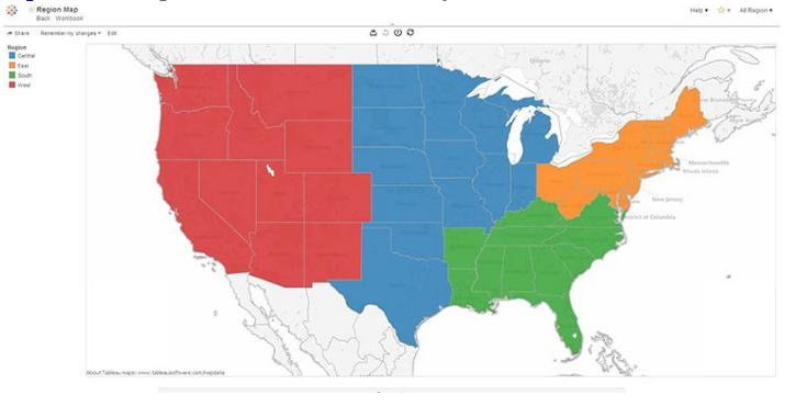 Regional Map filter