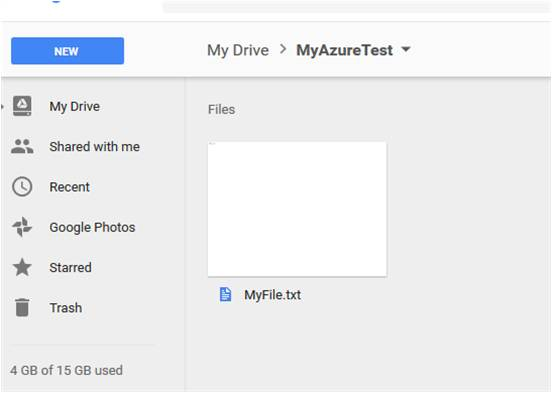 A new file in Google Drive