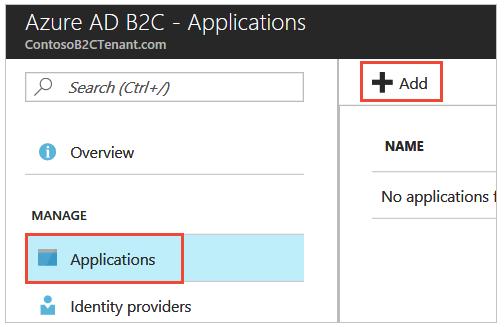 Azure AD B2C- Applications