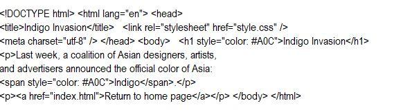 HTML Command