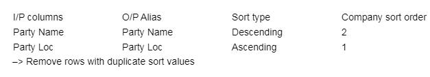 input columns  –> select columns