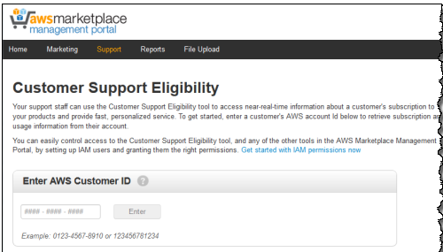 Customer Support Eligibility page