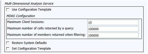 multi dimensional analysis service