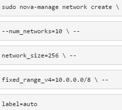 Range of networks