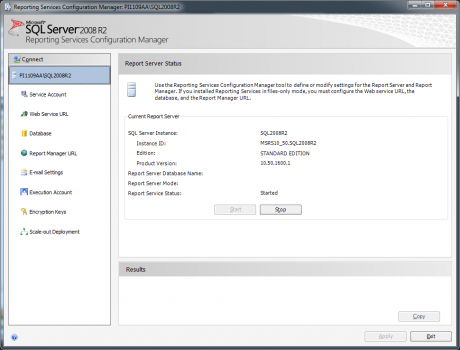 SSRS Configuration Manager
