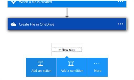 Google Drive template of Create file