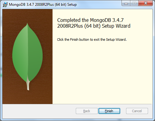 MongoDB Installation Completed