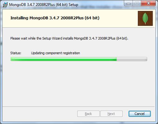 MongoDB Installing ScreenShot
