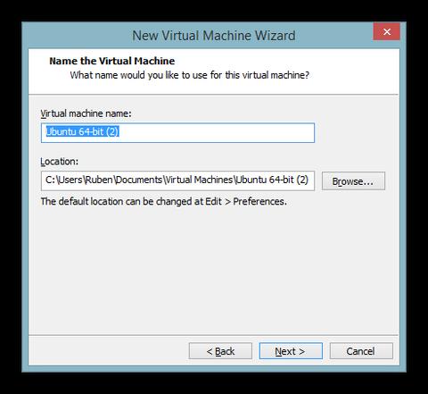 Name of the virtual machine