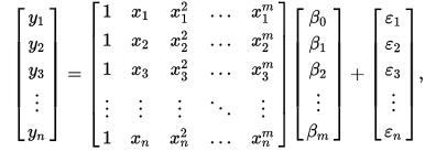 Polynomial Regression Matrix calculation