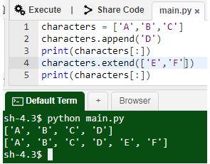 Python Append