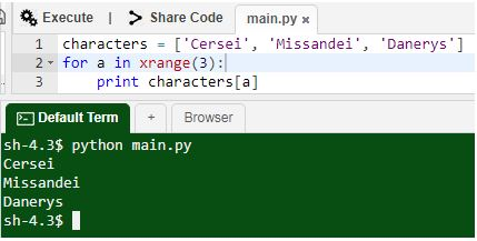 Python Characters