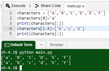 Python Mutable Characters