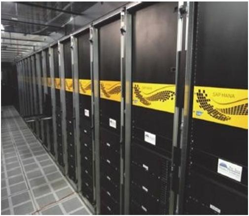 250TB RAM SAP HANA system with 250 nodes