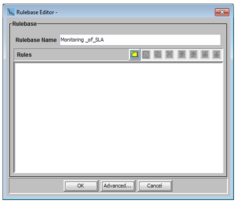 Create a Rulebase to create monitoring of SLA's