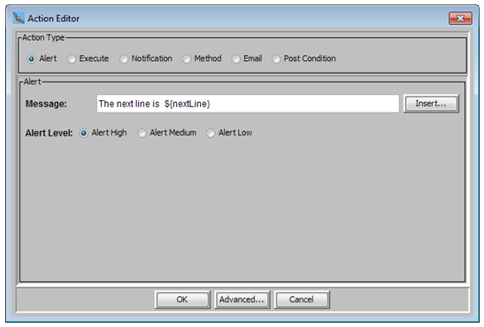 It prints the next new line bases on the given pattern match in the SLA file
