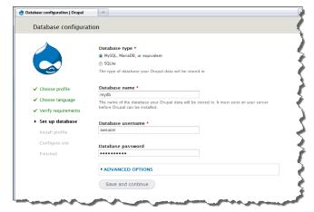 Set up database page 1