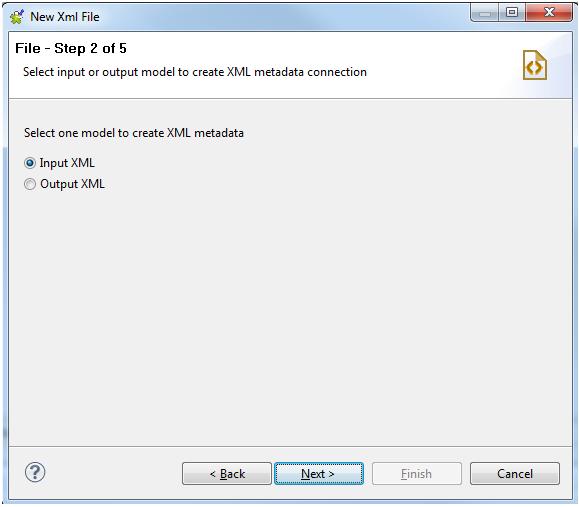 Input XML model