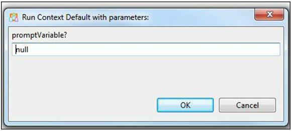 Run context default