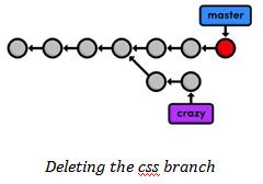 git branch -d css