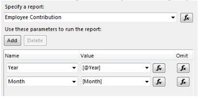 Employee Contribution report.