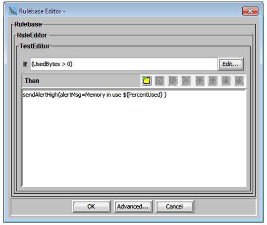 Test editor- action details