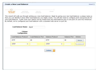 create a new load balancer