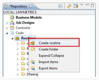 Create routine